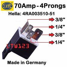 Hella 12V 70Amp  Relay w/ Bracket Multi Purpose 4RA00351051