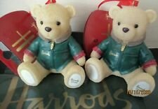 HARRODS XMAS TWO Resin 2020 DATED BEARS + LOGO HARRODS GREEN SALES BAGS