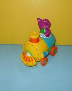 2001 Mattel Barney Purple Dinosaur 2-in-1 Talking Train Converts to Airplane