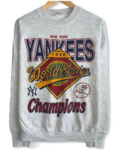 Vtg New York Yankees 1996 World Series Champions Women's Size XL Gray Sweatshirt
