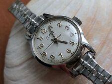 Vintage Women's Elgin Watch w/Divers All SS Case,Radium,Speidel USA Bracelet