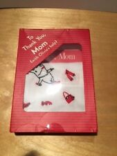 Olivia the Pig Thank you Mom kit booklet card embroidered handkerchief NIB