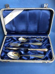 Chippendale Vorspeise Besteck 5-tlg, 800er Silber, BSF, Bremen (fast Neuwertig)