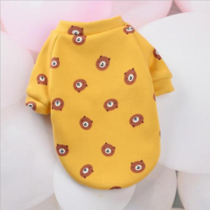 Dog Hoodie Warm Cute Coat Print Winter Pet Clothes Cat Puppy Pullover Chihuahua