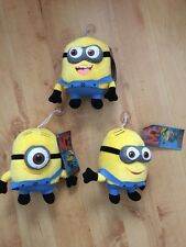 "5 Despicable Me - MINIONS -  Jorge, Dave, Stewart - Plush 7"" Toys - CLEARANCE"