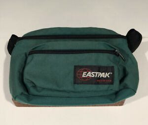 Vintage EASTPAK Fanny Waist Pack Green Dual Pouch Made in USA