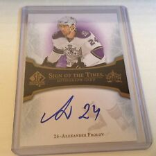 07-08 2007-08 SP AUTHENTIC ALEXANDER FROLOV SIGN OF THE TIMES AUTOGRAPH AF KINGS