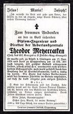 Sterbebild Röpke b. Löningen, + in Cloppenburg Inhaber mehr. Auszeichnungen
