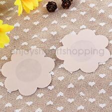 20pcs Nude Flower Satin Breast Petal Nipple Cover Adhesive Pasties Bra Pad