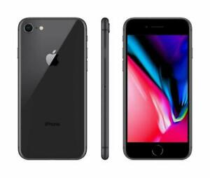 Apple iPhone 8 64GB Fully Unlocked (GSM+CDMA) AT&T T-Mobile Verizon Black