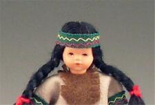 Dollhouse Dressed Indian Little Girl Caco DHS01621 Flexible Miniature