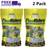 (2 Pack)Tetra PRO Pleco Algae Wafers 5.29oz,2 in 1 Sinking Food for Algae Eaters