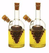 """NORPRO 792 Oil and Vinegar 5"""" Glass Grape Cruets Set of 2"""