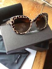 Dolce & Gabbana DG 4233 2870/13 Léopard Frame Brown Shaded Lentille Lunettes De Soleil 53