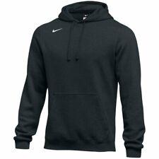 NWT Nike Men's Club Fleece Pullover Hoodie Sweatshirt LARGE Black 835585 NEW