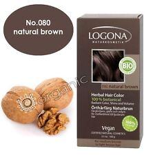 Logona Organic Natural Brown Herbal Hair Colour 100g Brand NEW
