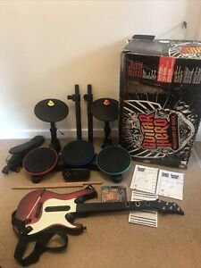 Guitar Hero Warriors of Rock PS2 PS3 Band Bundle *MISSING DONGLES AND STAND*