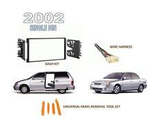 Fits 2002 KIA Sedona, Spectra Single Din Car Stereo Dash Kit, Wire Harness