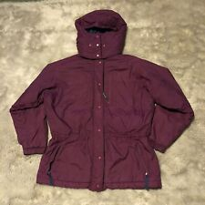 Patagonia Parka Winter Coat Women's Size Small Purple With Hood