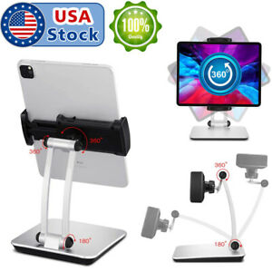 Adjustable Folding 360° Swivel Tablet Stand Holder Desk Mount for iPhone iPad