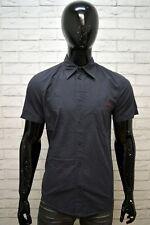 Camicia Blu Uomo GUESS Taglia Size M Maglia Chemise Homme Shirt Manica Corta