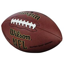 Wilson Nfl Super Grip Official American Football Outdoor Ball Game leather cover