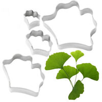 4pcs Stainless Steel Biscuit Baking Leaf Cutter Fondant Cake Cookie Mold Tool MA