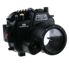 40M/130ft Underwater Camera Housing Case for Canon EOS 70D & 18-135mm Lens