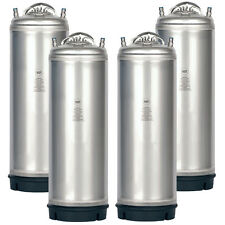 4 Pack New 5 Gallon Ball Lock Kegs Amcyl - Homebrew Beer Soda + Free O-Ring Kit