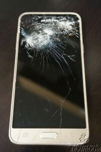 Used & Untested - Samsung* Galaxy J3 (SM-J320P Gold) For Parts Or Repairs Only