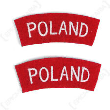 Poland Shoulder Titles - WW2 Repro British Patches Badges Army Sleeve Flash Arm