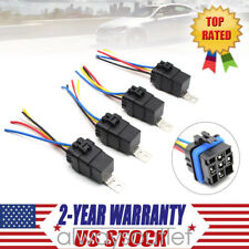 4 x Waterproof Integrated 12V DC 40A 5PIN Auto Truck Car Relay&Relay Socket Kits