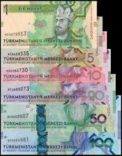 Turkmenistan full set issue 2012 - 2014 UNC