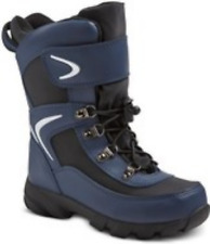 New - Circo Youth Boys Unisex Navy Lace-up Insulated Cold Weather Boots - 2