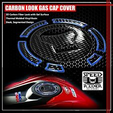 13-20 CB 500/CBR 500/650F PERFORATE BLACK&CHROME BLUE GAS CAP FUEL LID COVER PAD