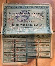 Compagnie Maroc et des Colonies Africaines Lyon 15 Juillet 1906