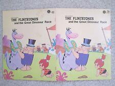 FLINTSTONES GREAT DINOSAUR RACE~Giant Durabook~1973 Hanna-Barbera~HORACE ELIAS~