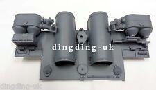Nuevo Heng Long Taigen Alemán tanque RC Tiger 1/16 panel trasero con tubos de escape BN UK