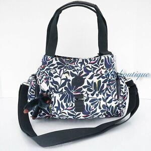 NWT Kipling HB7680 Felix Large Handbag Crossbody Polyester Nylon Floral Flourish