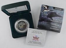 2002 Canada $5 Anniversary Loon Hologram 1 Oz .9999 Silver Coin RCM +BOX & COA