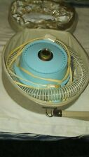Vintage Baby blue 1960s DOMINION  Deluxe Hair Dryer & Case. Works