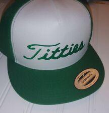 Titleist trucker Titties Golf Hat Cap PGA ST PATRICKS DAY bar funny tiger woods