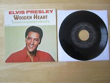 Elvis 45rpm record & Picture Sleeve, Wooden Heart, Canada, RCA # 2700