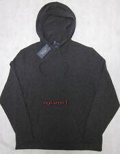NWT Polo Ralph Lauren 100% cashmere Italian Yarn Hoodie hood Sweater  L Gray