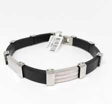 Rubber and Stainless Steel Man's Bracelet