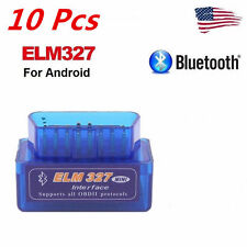 10 x Mini ELM327 V2.1 OBD2 II Bluetooth Diagnostic Car Auto Interface Scanner EM