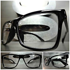 Men Women CLASSIC VINTAGE RETRO Style Clear Lens EYE GLASSES Black Fashion Frame