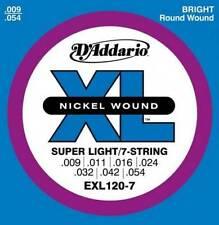 D'ADDARIO EXL 120-7  9-54 SUPER LIGHT- MUTA PER CHITARRA ELETTRICA 7 CORDE