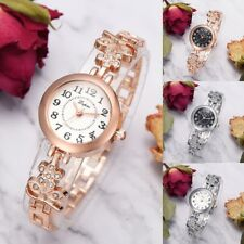 LVPAI Crystal Steel Watch Women's Mini Dial Bracelet Analog Quartz Wrist Watches