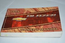 1998 CHEVROLET BLAZER OWNERS MANUAL BOOK